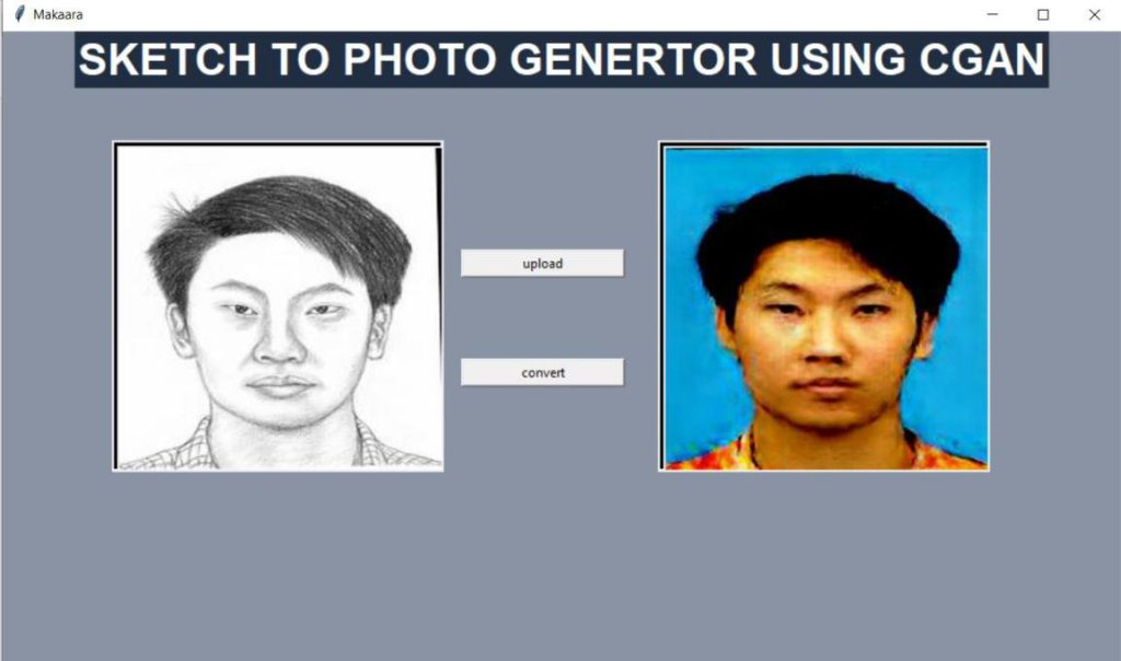 Sketch to Photo Generator using Generative Adversarial Network