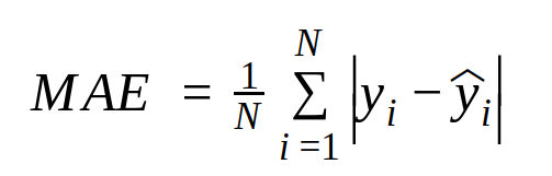 mean absolute error formula
