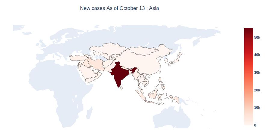 corona cases in asia