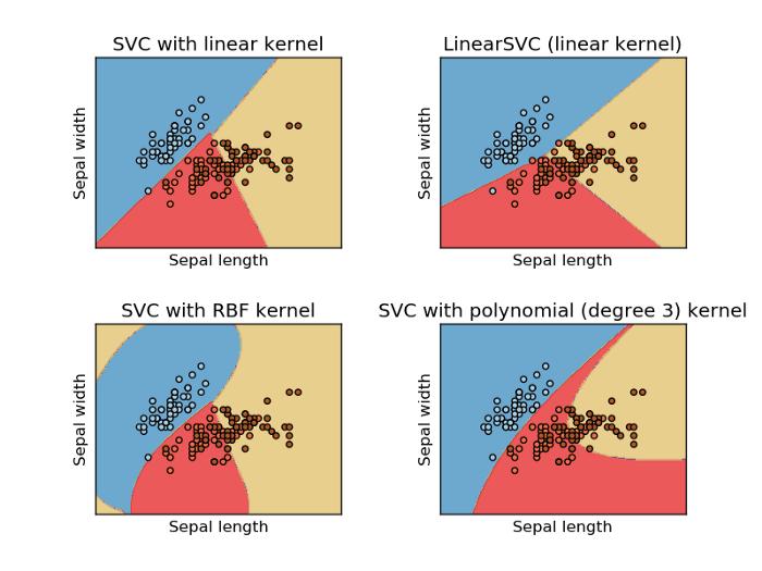 different kernel on Iris Dataset SVM