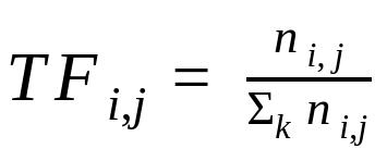 tf formula